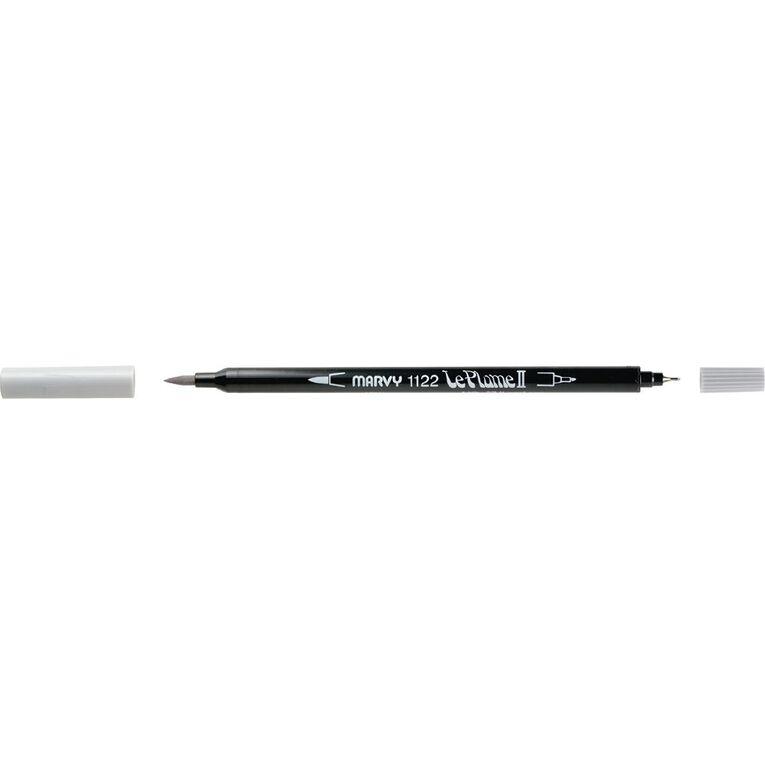 MARVY Le Plume II Dual Tip Marker Light Cool Grey, , hi-res