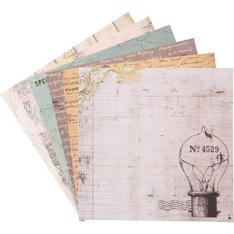 Uniti Designer Paper 6x6 24 Sheets Vintage, , hi-res