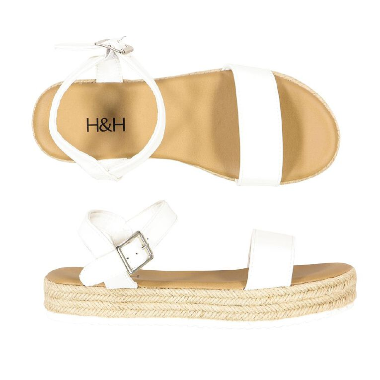 H&H Women's Heide Sandals, White, hi-res