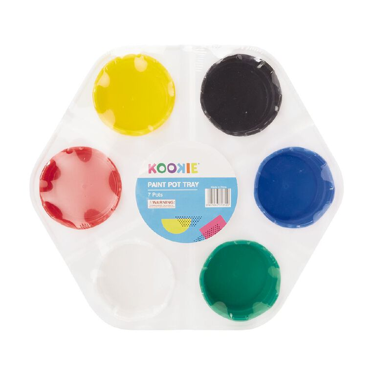 Kookie Paint Pot Tray Multicoloured, , hi-res image number null