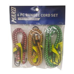 Mako 6 Piece Bungee Cord Set