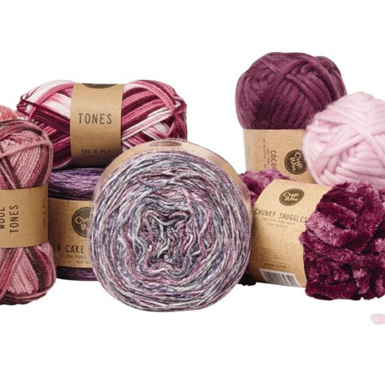 Uniti Yarn Family Double Knit Burgundy 50g, , hi-res