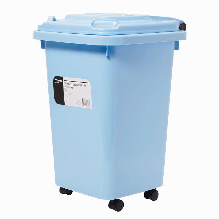 Living & Co Wheelie Bin Blue 32L, , hi-res