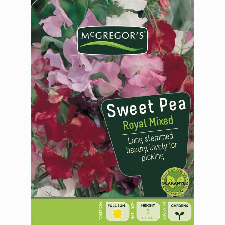 McGregor's Royal Sweet Pea Mixed Flower Seeds, , hi-res