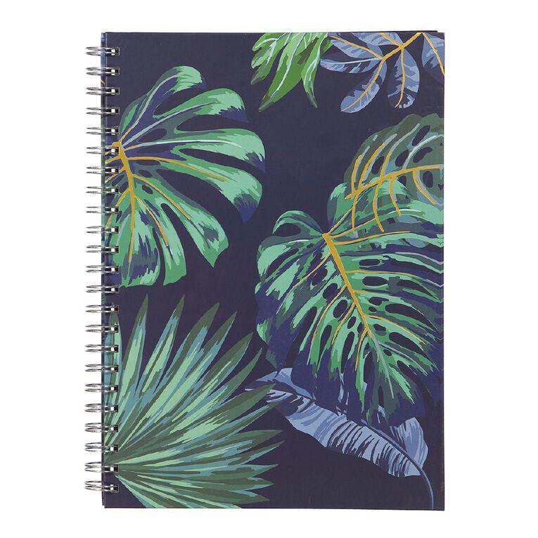 Uniti Fun & Funky Q1 Hard Cover Spiral Notebook Tropical A4, , hi-res