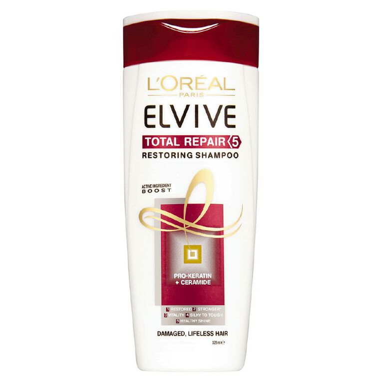 L'Oreal Paris Elvive Total Repair Shampoo 325ml, , hi-res
