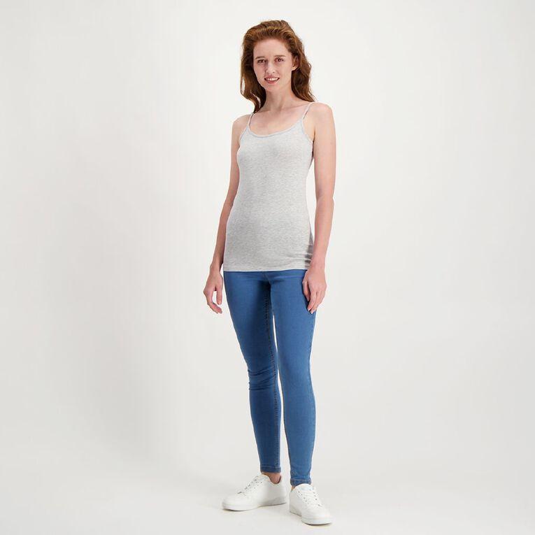 H&H Women's Light Under Singlet, Grey Marle, hi-res