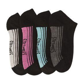 Rio Women's No Show Stretchable Socks 4 Pack