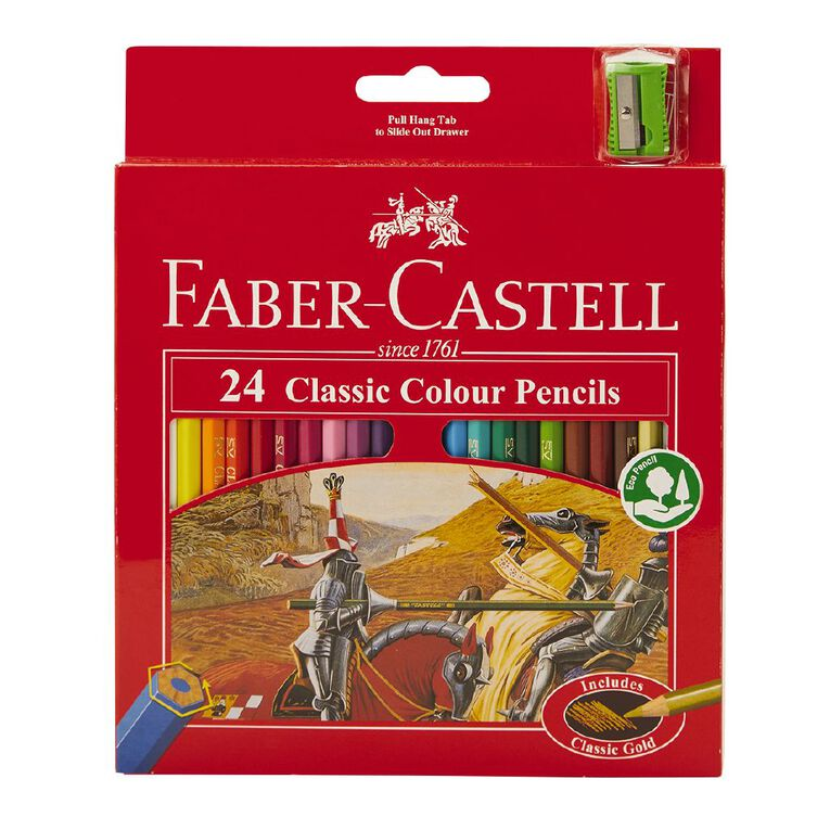 Faber-Castell Classic Colour Pencils 24 Pack, , hi-res