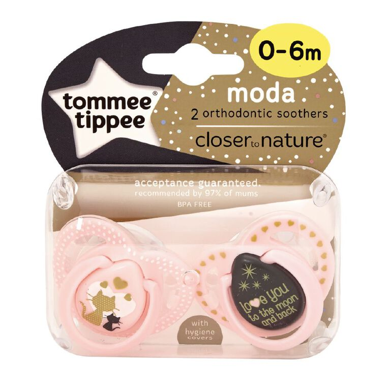 Tommee Tippee Closer to Nature Silicon Soother 0-6 Months 2 Pack, , hi-res