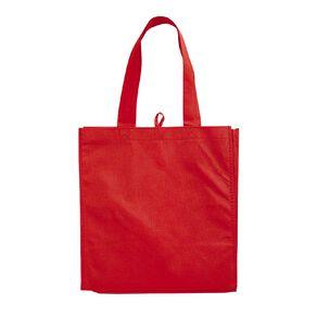 Non Woven Reusable Bag 5Pk Red