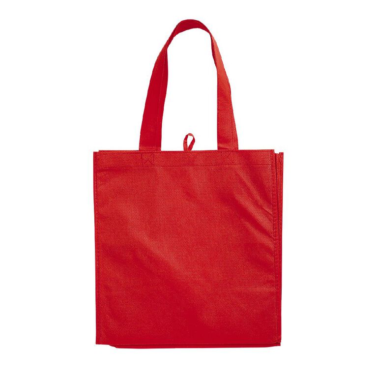 Non Woven Reusable Bag 5Pk Red, , hi-res