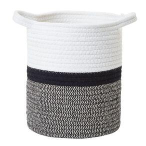 Living & Co Jute Rope Basket Black/White Small