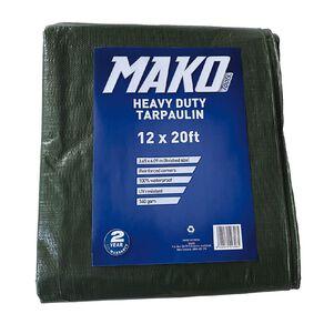 Mako Tarpaulin Green 140gsm 12ft x 20ft Green