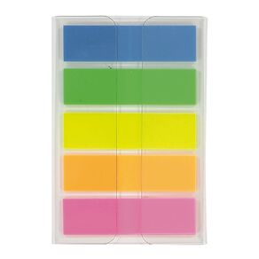 WS Fluro Sticky Flags 12mm x 44mm 20 Sheet 5 Pack