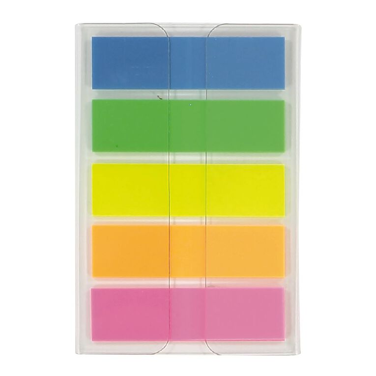 WS Fluro Sticky Flags 12mm x 44mm 20 Sheet 5 Pack, , hi-res