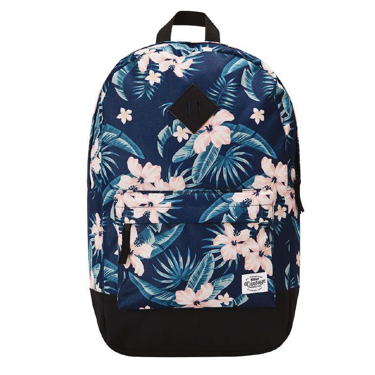 H&H Vintage Backpack, Navy, hi-res