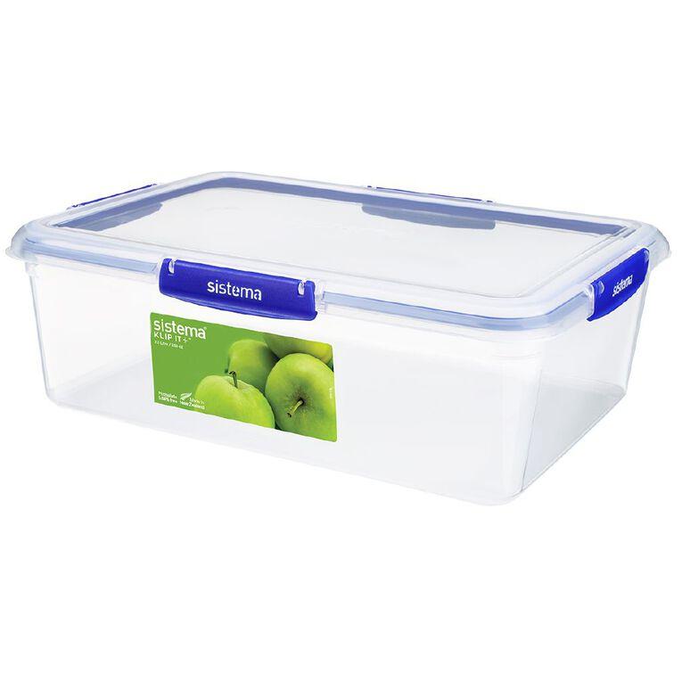 Sistema Klip It Plus Rectangular Container Blue 7.5L, , hi-res
