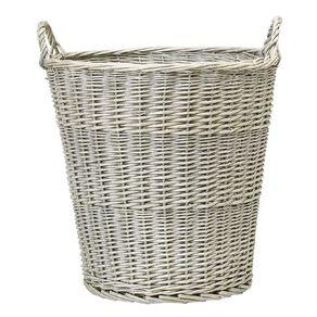 Living & Co Round Wicker Basket Natural Medium