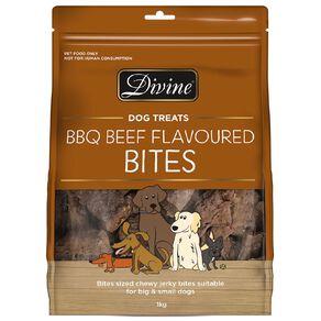 Divine Dog Treats BBQ Beef Bites 1kg