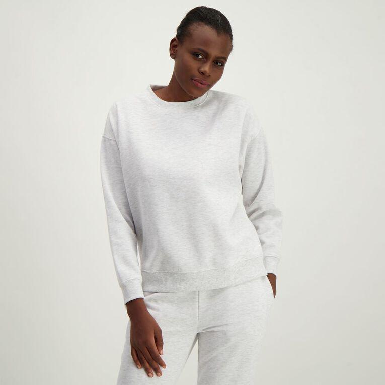 H&H Women's Classic Crew Sweatshirt, White, hi-res