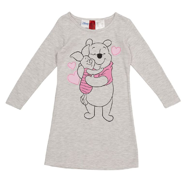 Winnie the Pooh Disney Girls' Knit Nighty, White, hi-res