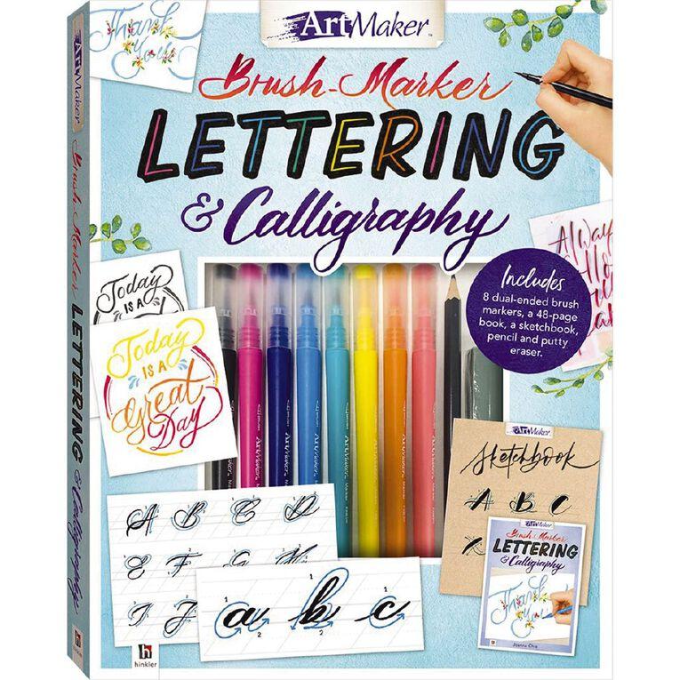 Artmaker Brush Marker Lettering & Calligraphy Kit, , hi-res