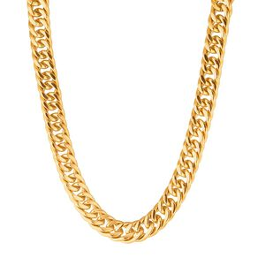 Stainless Steel Gold Plated Chunky Necklace