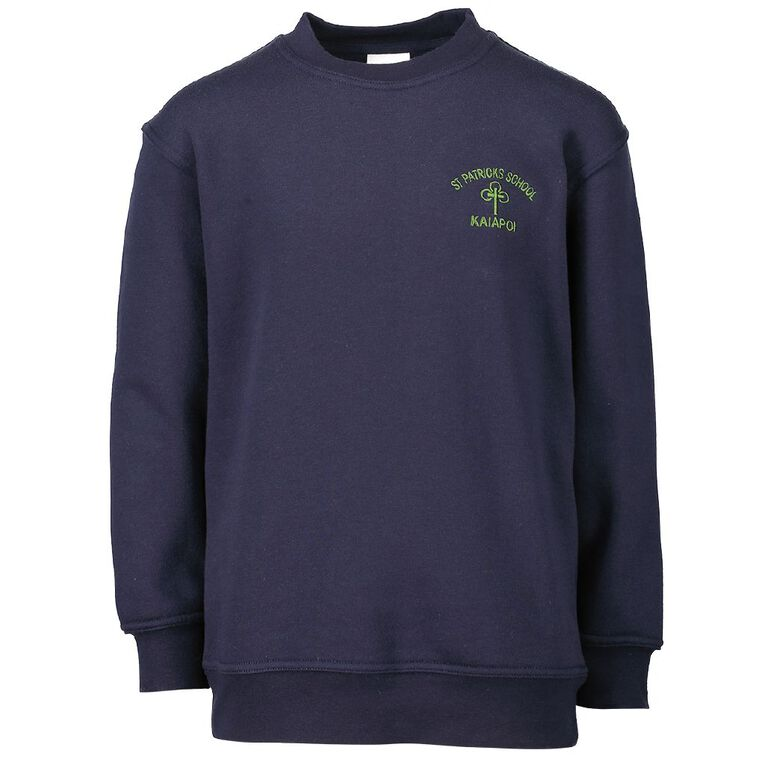 Schooltex St Patricks Kaiapoi Sweat with Embroidery, Navy, hi-res