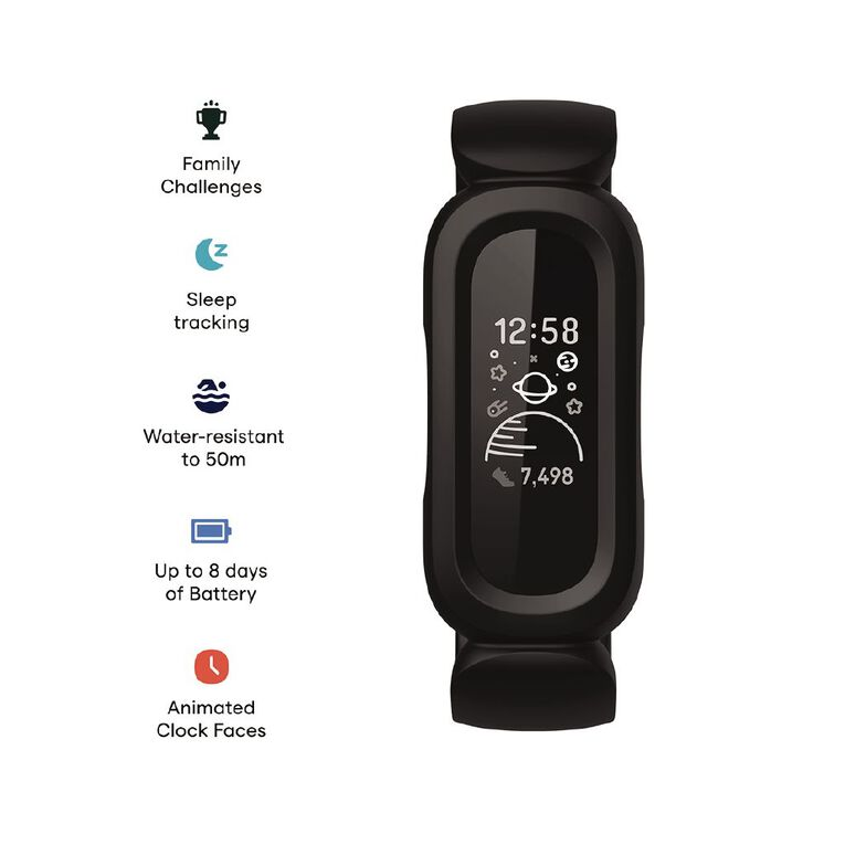 Fitbit Ace 3 Black/Racer Red, , hi-res