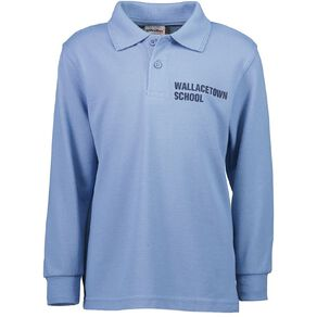 Schooltex Wallacetown Long Sleeve Polo with Transfer