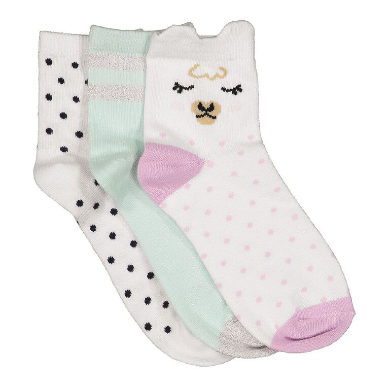 H&H Girls' Anklet Socks 3 Pack, Purple Light, hi-res