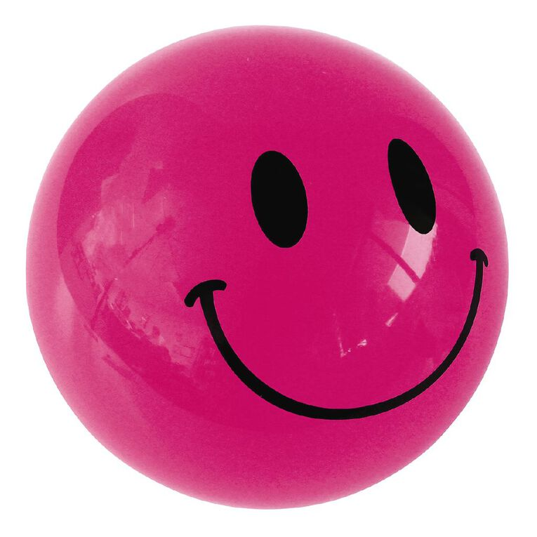 Avaro Play Ball Smiley Face Assorted Colours Assorted, , hi-res