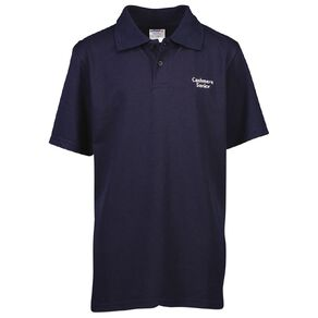 Schooltex Cashmere Senior Short Sleeve Polo with Embroidery