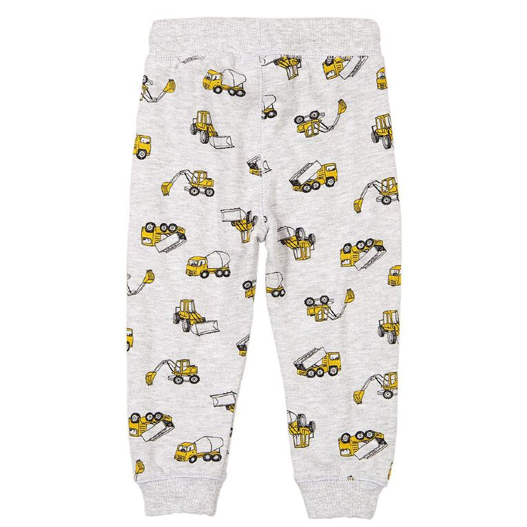 Young Original Toddler Printed Trackpants, Grey Mid, hi-res