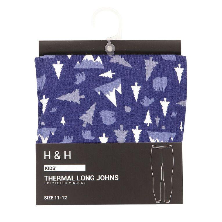 H&H Kids' Polyester Viscose Long John Thermal, Blue, hi-res