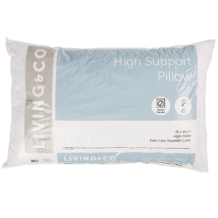 Living & Co Pillow High Support Firm White One Size, White, hi-res