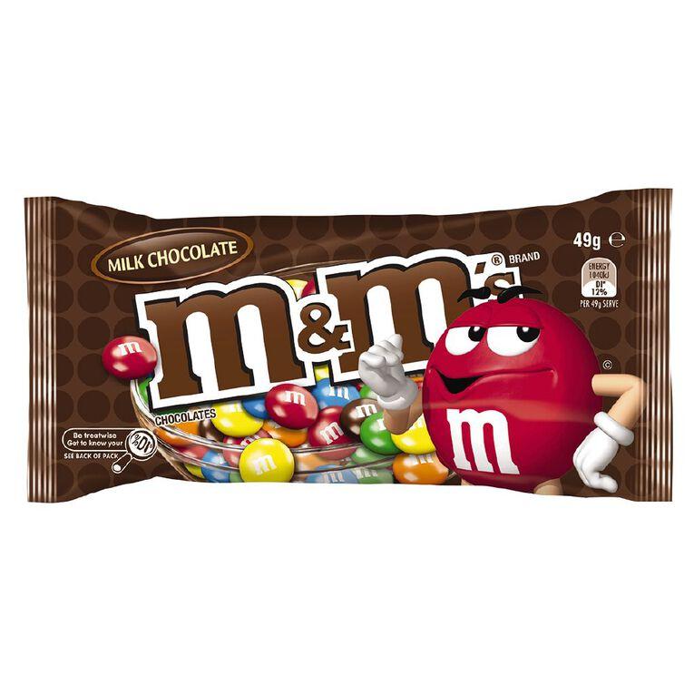 M&M's Milk Chocolate Singles Bag 49g, , hi-res
