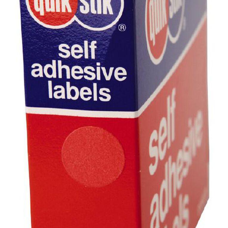 Quik Stik Labels Dots Mc14 1050 Pack Red, , hi-res