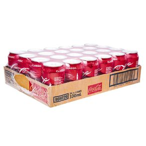 Coca Cola Soft Drink 24 Pk Tray 330ml
