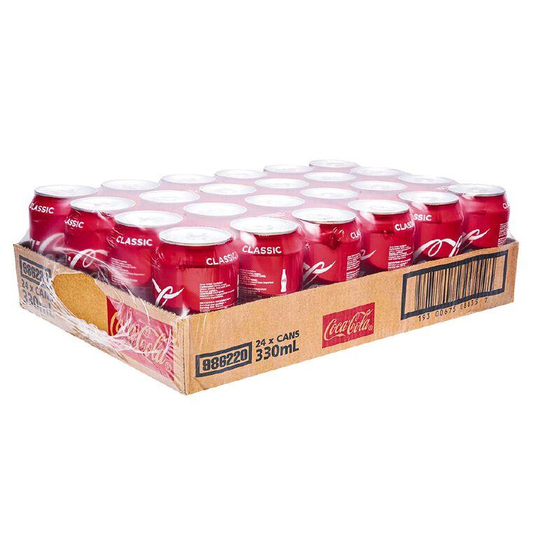 Coca Cola Soft Drink 24 Pk Tray 330ml, , hi-res