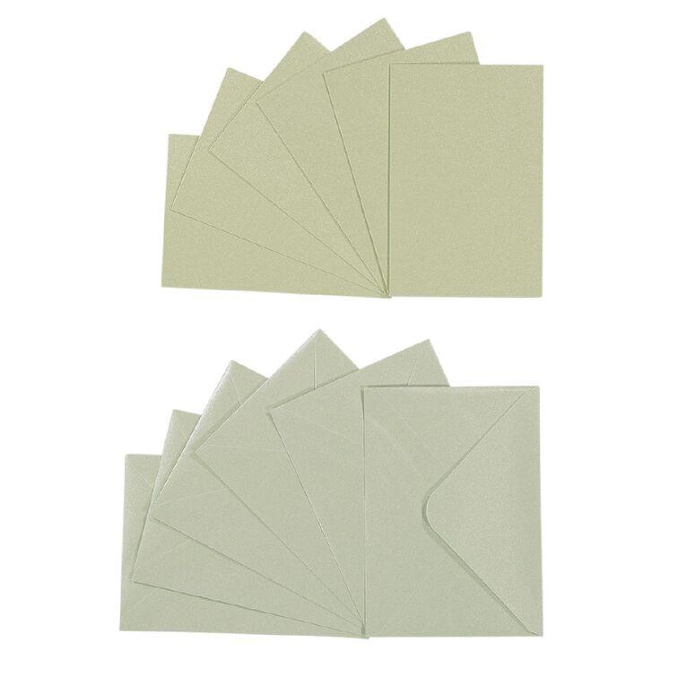 Uniti Cards & Envelopes Pearlised Mint 6 Pack, , hi-res