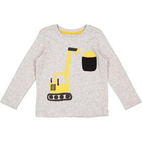 Young Original Toddler Long Sleeve Applique Tee
