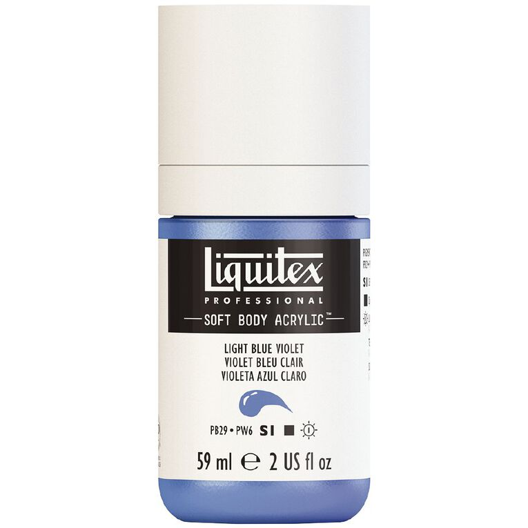 Liquitex Soft Body Acrylic 59ml Light Blue Violet S1, , hi-res image number null