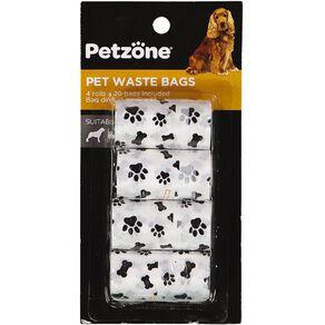 Petzone Pet Waste Bags 4 Pack