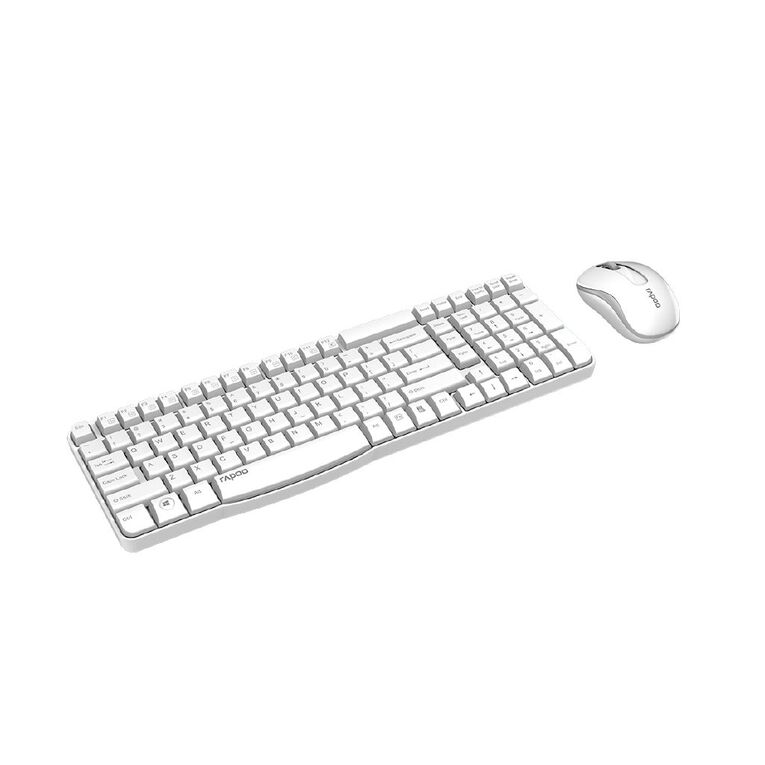 Rapoo X1800S Spill-Resistant Wireless Keyboard Combo White, , hi-res