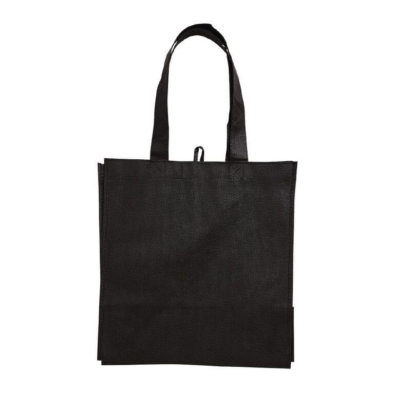 Non Woven Reusable Bag 5pk Black, , hi-res