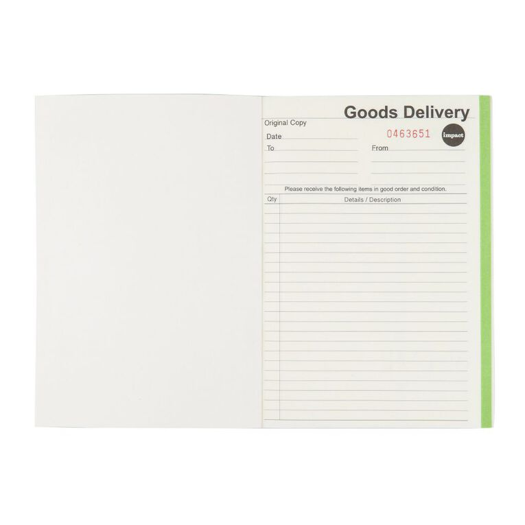 WS Delivery Book Duplicate Ncr 50 Forms Green A5, , hi-res image number null