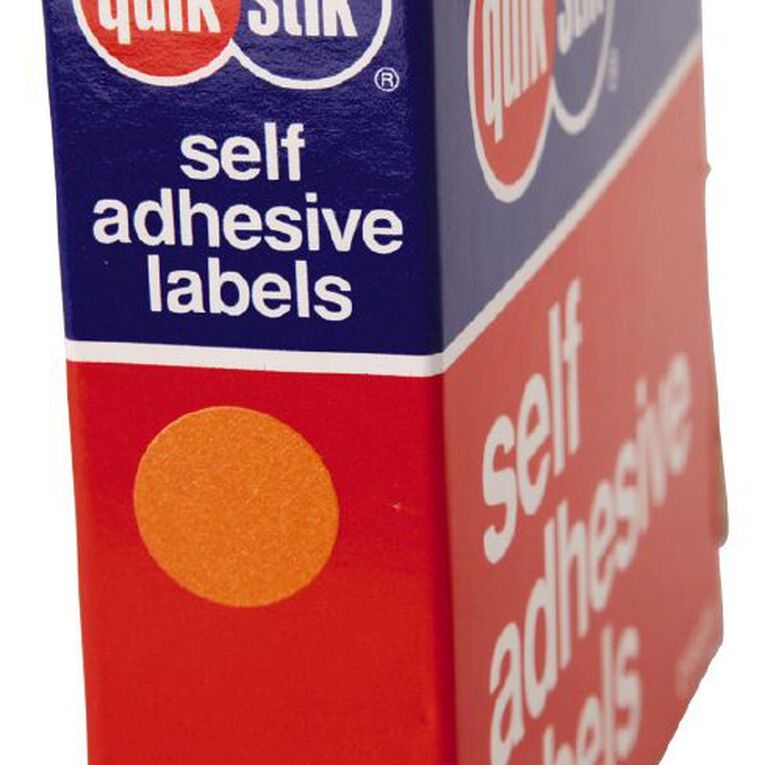 Quik Stik Labels Dots Mc14 1050 Pack Orange, , hi-res