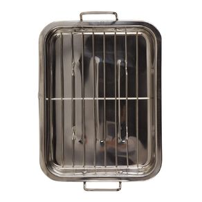 Living & Co Stainless Steel Roaster With Grill